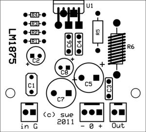 LM1875 Silkscreen