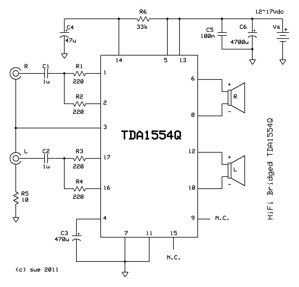 Tda1554q 22w Bridged Chip Amp Not A Chances Tda7294 Bridge Power Amplifier Circuit Diagram Electronic Project