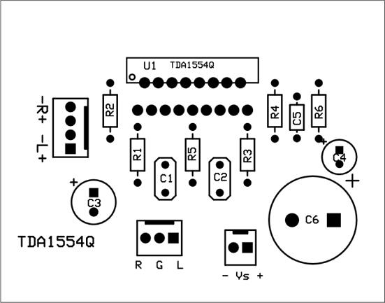 tda1554q 22w 22w bridged chip amp